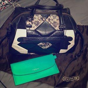 Coach Black Canyon Quilt Crossbody Bag & Wallet
